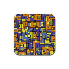 Square Background Background Texture Rubber Coaster (Square)