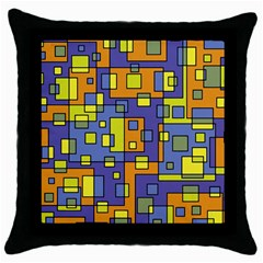 Square Background Background Texture Throw Pillow Case (Black)