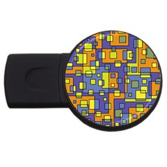 Square Background Background Texture USB Flash Drive Round (1 GB)