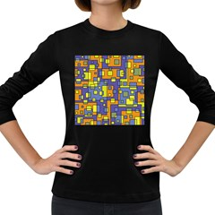Square Background Background Texture Women s Long Sleeve Dark T-Shirts