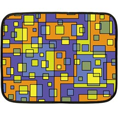 Square Background Background Texture Double Sided Fleece Blanket (Mini)