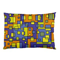 Square Background Background Texture Pillow Case (Two Sides)