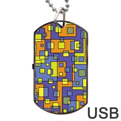 Square Background Background Texture Dog Tag USB Flash (Two Sides)