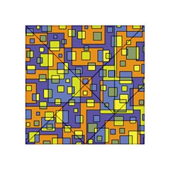 Square Background Background Texture Acrylic Tangram Puzzle (4  X 4 )