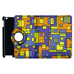 Square Background Background Texture Apple Ipad 2 Flip 360 Case