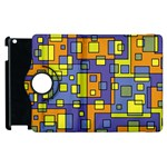 Square Background Background Texture Apple iPad 2 Flip 360 Case Front