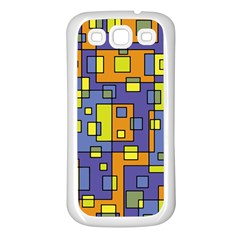 Square Background Background Texture Samsung Galaxy S3 Back Case (White)
