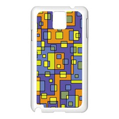 Square Background Background Texture Samsung Galaxy Note 3 N9005 Case (white)