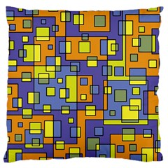 Square Background Background Texture Large Flano Cushion Case (Two Sides)
