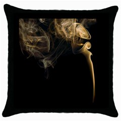 Smoke Fume Smolder Cigarette Air Throw Pillow Case (Black)