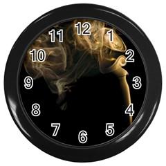 Smoke Fume Smolder Cigarette Air Wall Clocks (Black)