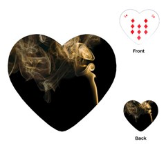 Smoke Fume Smolder Cigarette Air Playing Cards (Heart)