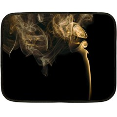 Smoke Fume Smolder Cigarette Air Fleece Blanket (mini)