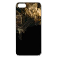 Smoke Fume Smolder Cigarette Air Apple Seamless iPhone 5 Case (Clear)