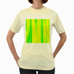 Shading Pattern Symphony Women s Yellow T-Shirt