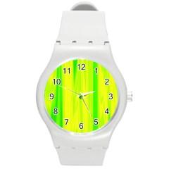Shading Pattern Symphony Round Plastic Sport Watch (m)