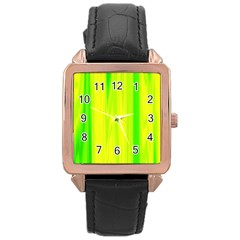 Shading Pattern Symphony Rose Gold Leather Watch