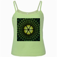 Stained Glass Colorful Glass Green Spaghetti Tank