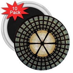 Stained Glass Colorful Glass 3  Magnets (10 Pack)