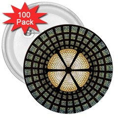 Stained Glass Colorful Glass 3  Buttons (100 pack)