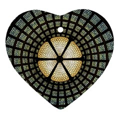 Stained Glass Colorful Glass Heart Ornament (Two Sides)