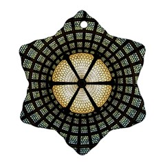 Stained Glass Colorful Glass Snowflake Ornament (Two Sides)