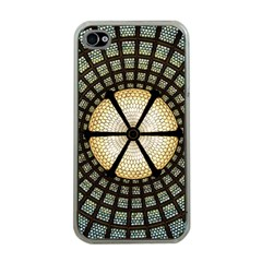 Stained Glass Colorful Glass Apple iPhone 4 Case (Clear)