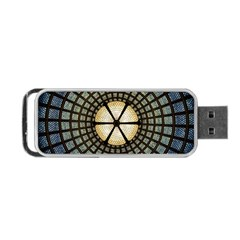 Stained Glass Colorful Glass Portable Usb Flash (two Sides)
