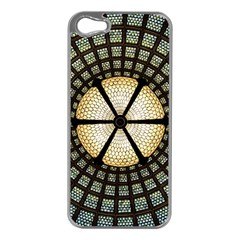 Stained Glass Colorful Glass Apple iPhone 5 Case (Silver)