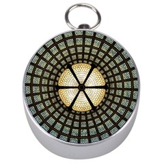 Stained Glass Colorful Glass Silver Compasses