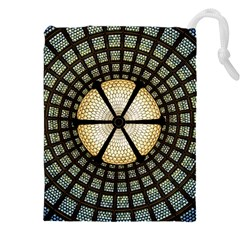 Stained Glass Colorful Glass Drawstring Pouches (XXL)
