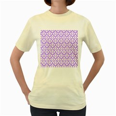 The Background Background Design Women s Yellow T-Shirt