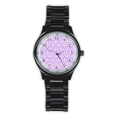 The Background Background Design Stainless Steel Round Watch