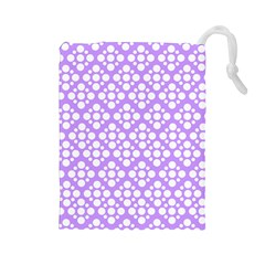 The Background Background Design Drawstring Pouches (Large)