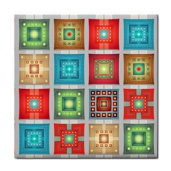 Tiles Pattern Background Colorful Tile Coasters