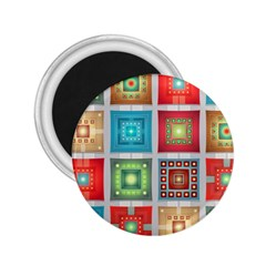 Tiles Pattern Background Colorful 2.25  Magnets