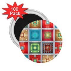 Tiles Pattern Background Colorful 2.25  Magnets (100 pack)