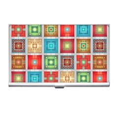 Tiles Pattern Background Colorful Business Card Holders