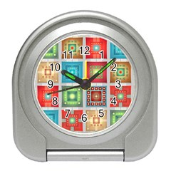 Tiles Pattern Background Colorful Travel Alarm Clocks