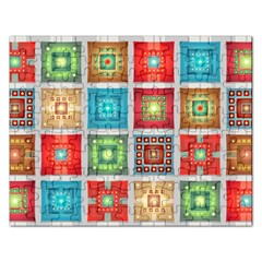 Tiles Pattern Background Colorful Rectangular Jigsaw Puzzl