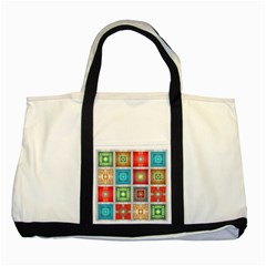 Tiles Pattern Background Colorful Two Tone Tote Bag