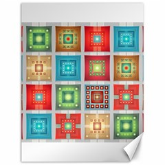 Tiles Pattern Background Colorful Canvas 12  x 16