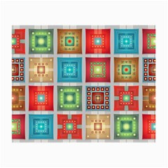 Tiles Pattern Background Colorful Small Glasses Cloth (2 Side)