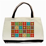 Tiles Pattern Background Colorful Basic Tote Bag (Two Sides) Front