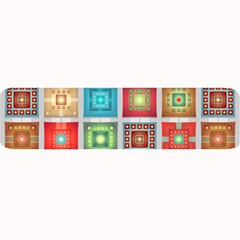 Tiles Pattern Background Colorful Large Bar Mats