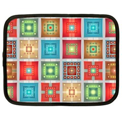 Tiles Pattern Background Colorful Netbook Case (Large)