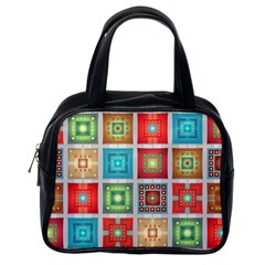 Tiles Pattern Background Colorful Classic Handbags (One Side)