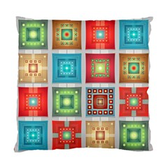 Tiles Pattern Background Colorful Standard Cushion Case (One Side)
