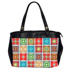 Tiles Pattern Background Colorful Office Handbags (2 Sides)