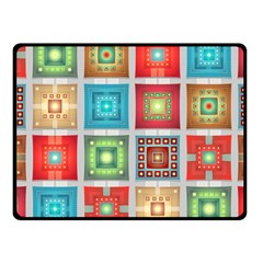 Tiles Pattern Background Colorful Fleece Blanket (Small)